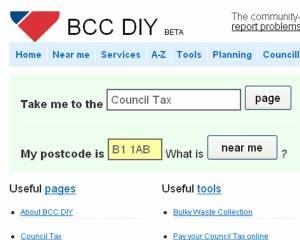 The Birmingham bloggers build a DIY site when they were less than impressed with the council version.