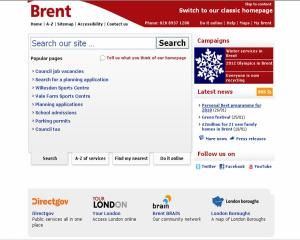 Brent Council's opt in less busy webpage.