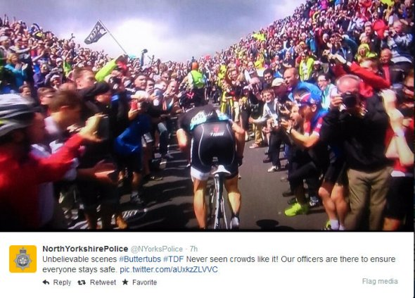 Twitter  NYorksPolice Unbelievable scenes #Buttertubs ... - Google Chrome 05072014 213859