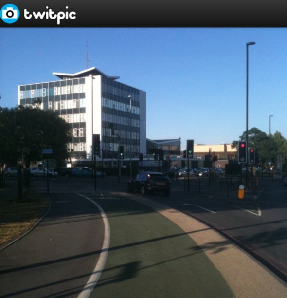 Walsall Police Station at 1911 today, not on fire. Look how ... on Twitpic - Google Chrome 05072014 215019