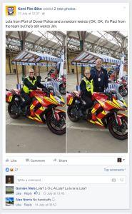 kent biker down