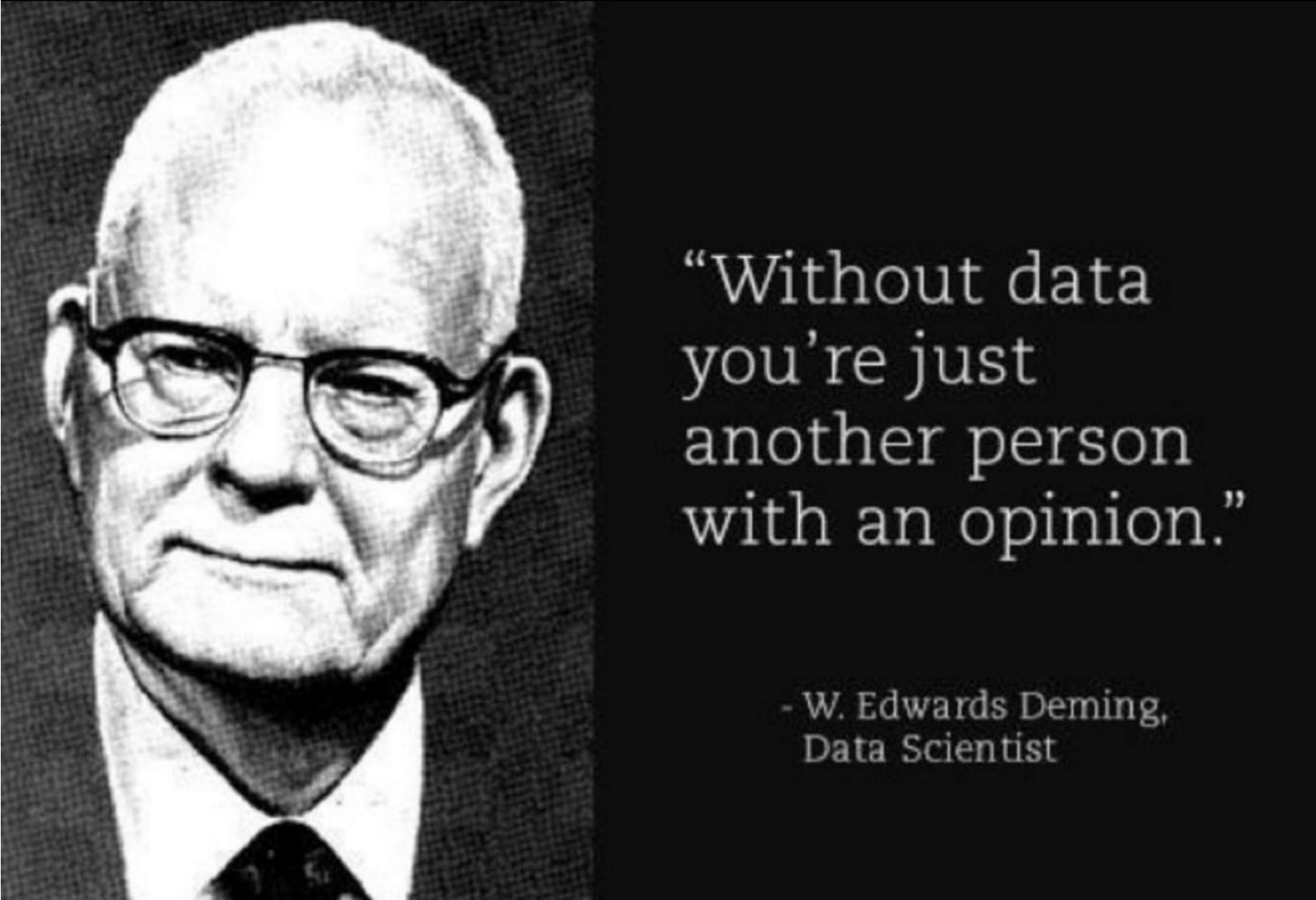 """00c392f1240b5 LIFESAVER  """"Without data you re just another person with an opinion ..."""